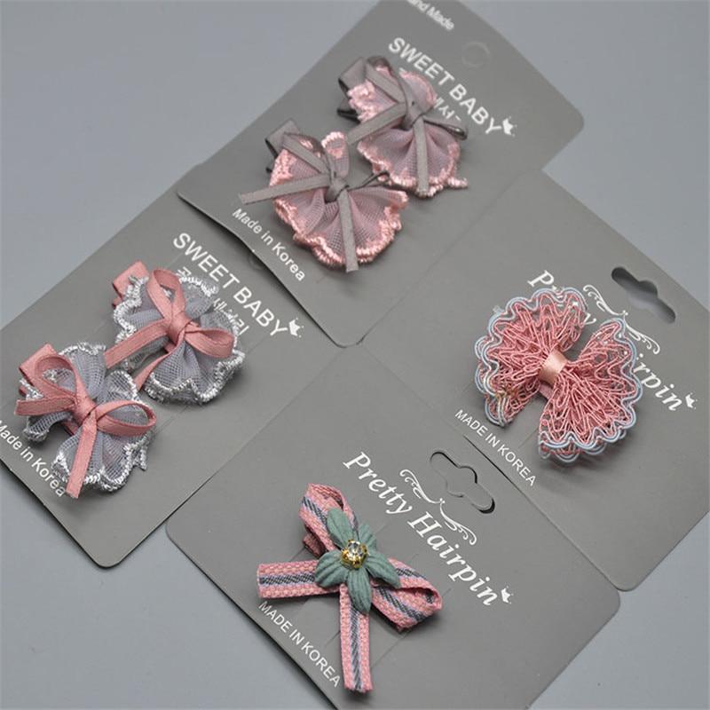 Hair Pin Pins Cute Lace Bowknot  Tassel Hair Clips Baby Girl Hairpin Child Hair Accessories Baby