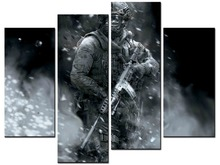 4 pieces / sets of sniper wall art for the decoration home pictures Painting in canvas XJDC12-60
