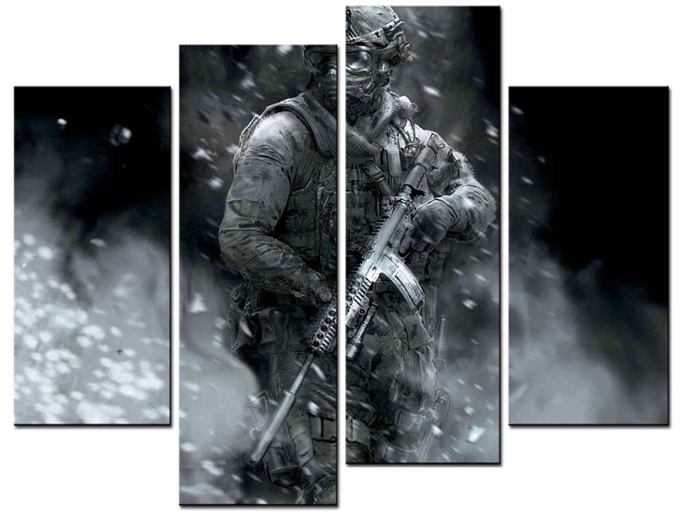 4 pieces / sets of sniper wall art for the wall decoration home decoration pictures Painting in canvas XJDC12-60