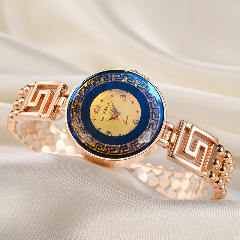 BAOSAILI Brand Luxury Gold Quartz Watch Women Bracelet Stainless Steel Band Clock Ladies Dress Wrist Watch Feminino Hours fashion ceramic watch women bracelet watch sbao famous brand wrist ladies rose gold girl quartz watch women luxury dress clock