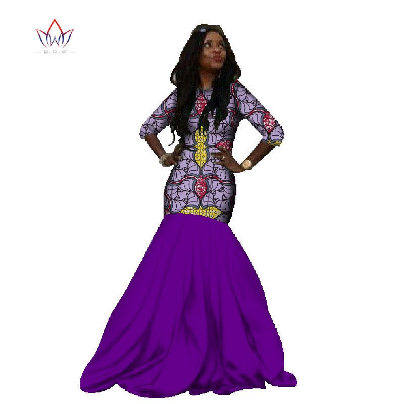 2db7b461ab6 BRW 2017 New African Dresses for Women Mermaid Long Party Dress Plus Size  African Print Dresses Dashiki Bazin Femme WY232 .