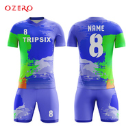 latest design full sublimation custom football shirt breathable red soccer jersey