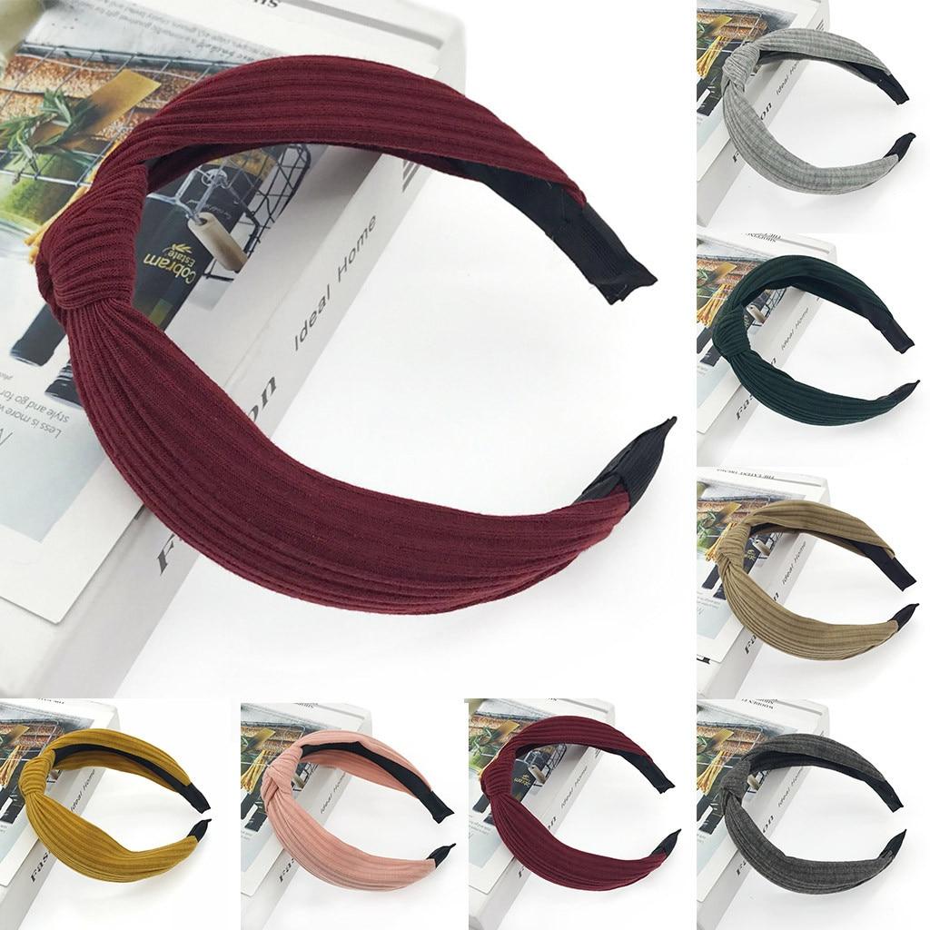 Design   Headwear   Rockabilly Solid Color Wired Headbanf Polka Tartan Retro Scarf Wire Hair Band Serre Tete