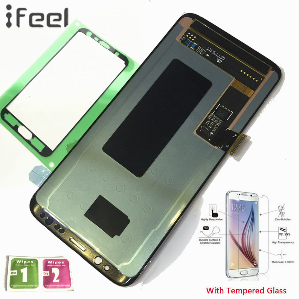 IFEEL Nuovo 100% Tested LCD Display Touch Screen Digitizer Con cornice Per Samsung Galaxy S8 G950F G950FD G950P G950U Super AMOLEDIFEEL Nuovo 100% Tested LCD Display Touch Screen Digitizer Con cornice Per Samsung Galaxy S8 G950F G950FD G950P G950U Super AMOLED
