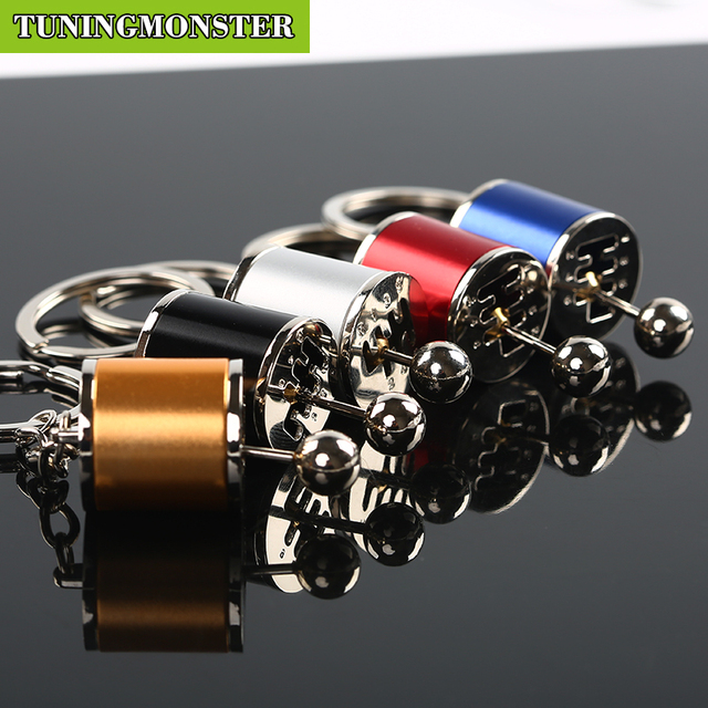 Six Keychain Removable Transmission Gear Shift