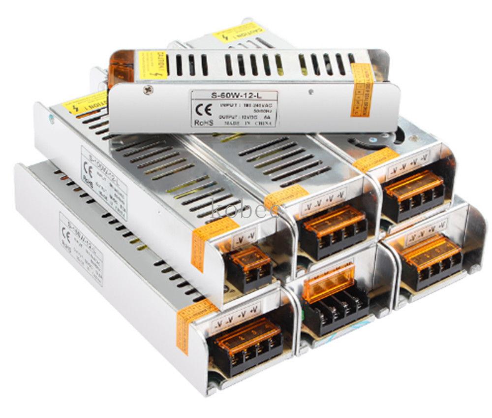 Питание 3A 5A 10A 15A 30A DC 12V светильник ing трансформатор для Светодиодные ленты светильник из отключаемого элемента питания 36 Вт 60 Вт 120W 150W 180W 200W ...