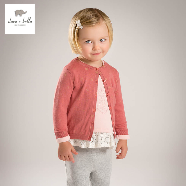 DB4836 dave bella spring new design baby girls cardigans children sweaters  latest cardigans