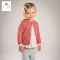 DB4836 dave bella voorjaar nieuwe ontwerp baby meisjes vesten kinderen truien laatste vesten