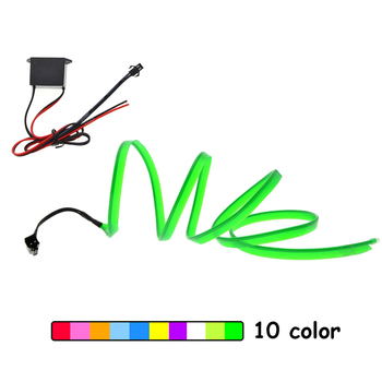 EL Wire 6mm Sewing Edge Neon Car Lights Glowing Strobing Electroluminescent Halloween Christmas Party Decor Led strip Light wire image