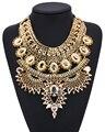 PPG & PGG Bijuterias Cadeia Chunky Banhado A Ouro Big Cristal Declaração Bib Collar Colares Bijoux