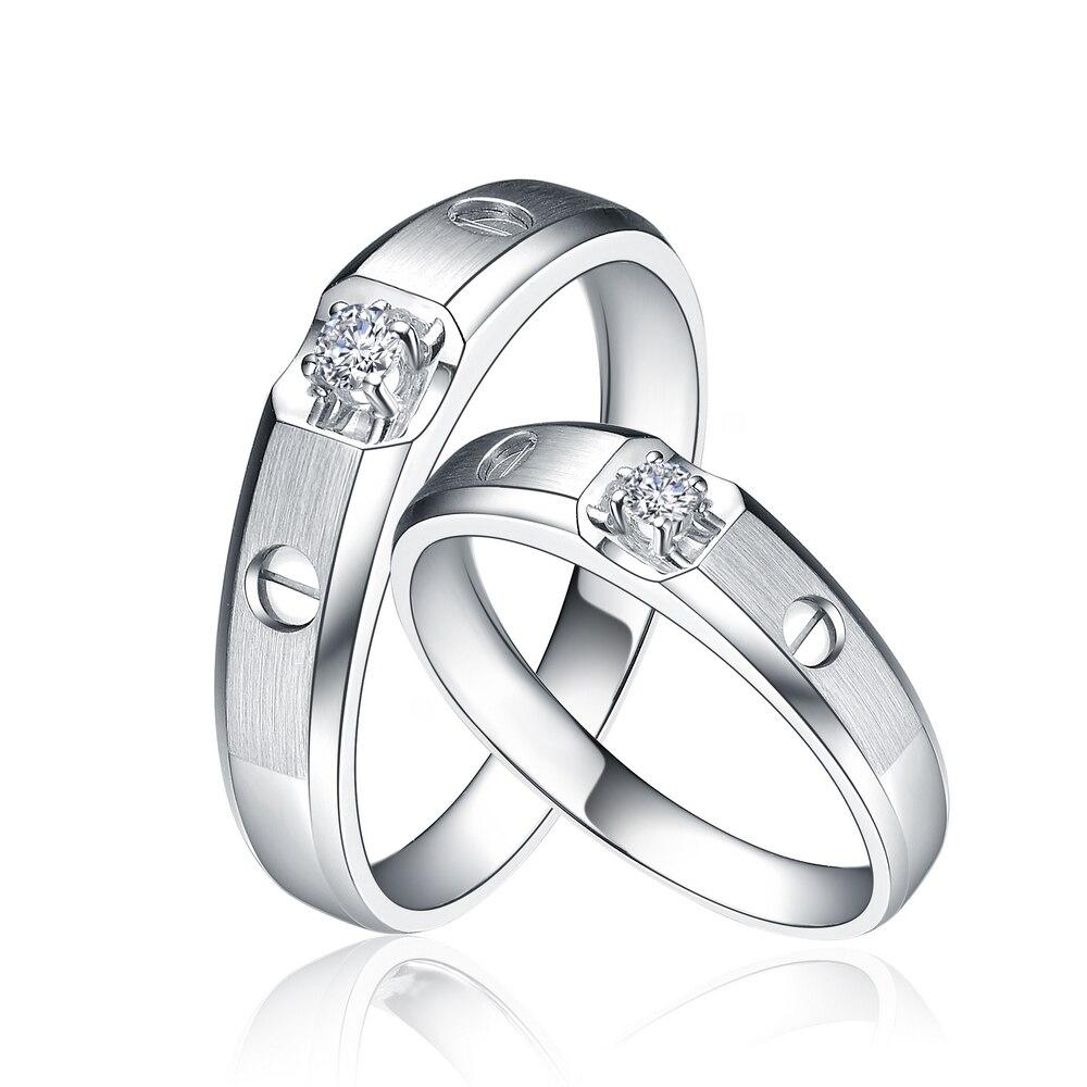 Kekasih Pasangan GVBOR 0.1 Karat Berlian Pernikahan Cincin ...