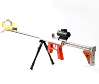 High end Smooth bore mechanical slingshot Telescoping Wooden Butt 12 holes Stainless Steel Circle Arch Catapult Jungle Hunting