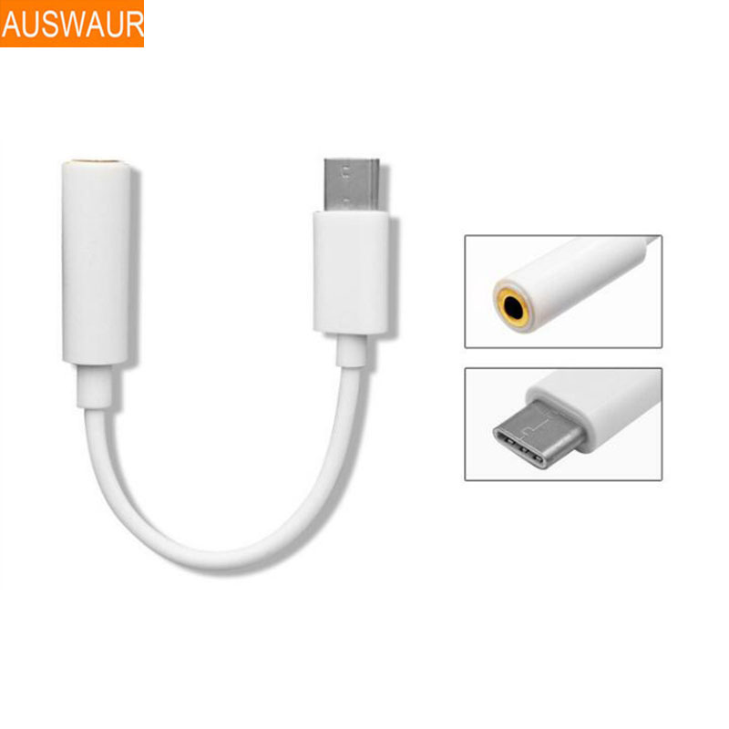 USB Type-C Male To 3.5mm Audio Female Jack Cable Type C To 3.5 Audio Headphone Converter For Letv 2 2 Pro Max 2 Pro 3 Xiaomi 6