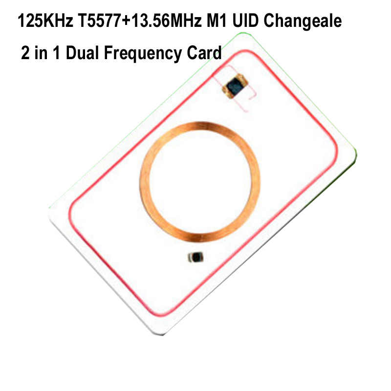 RFID Card Dual Frequency 13.56MHz UID 125KHz T5577 EM4305 Rewritable 0 Block