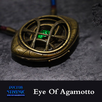 Eye Of Agamotto Pendant LED Glowing Necklace Avengers: Infinity War Doctor Strange Necklace Movie Costume Cosplay Jewelry Gift