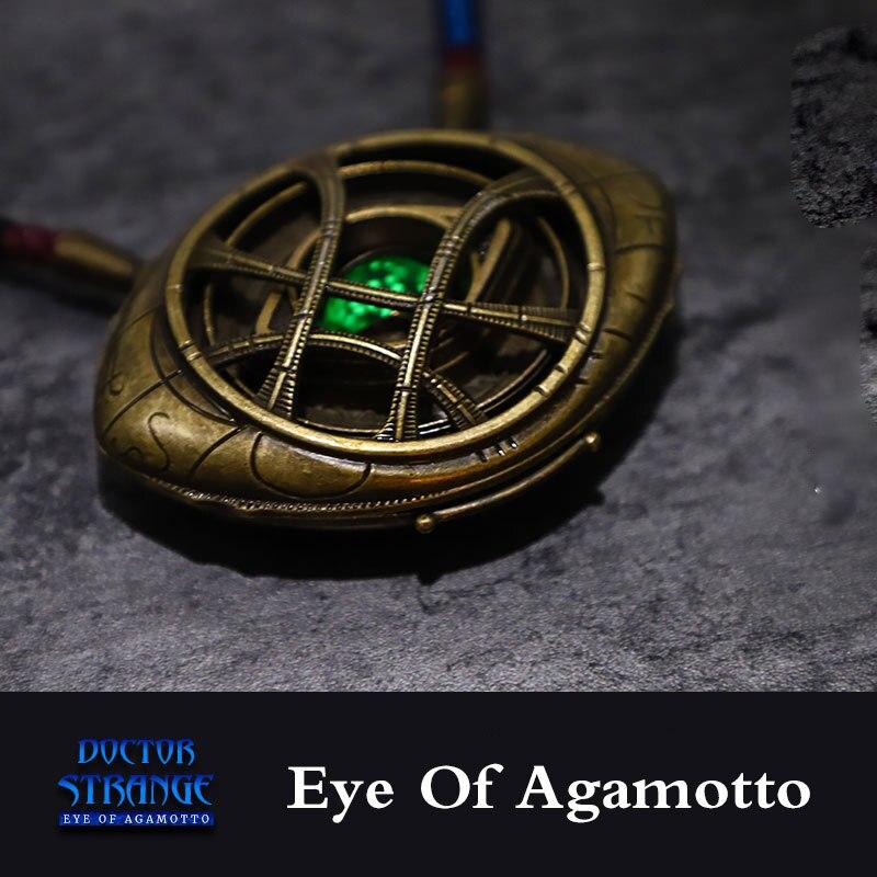 Pendentif oeil d'agamotto LED collier lumineux Avengers: Infinity War Doctor collier étrange Costume de film cadeau de bijoux Cosplay