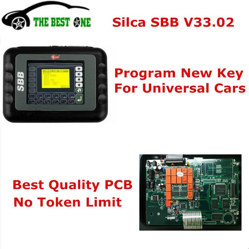 Prix pour Haute Qualité Silca CFF Clé Programmeur V33.2/V33.02 Copie Puce pour De Nombreux Voiture Via OBD2 Câble CFF Immobilisation Programmeur Bateau Rapide