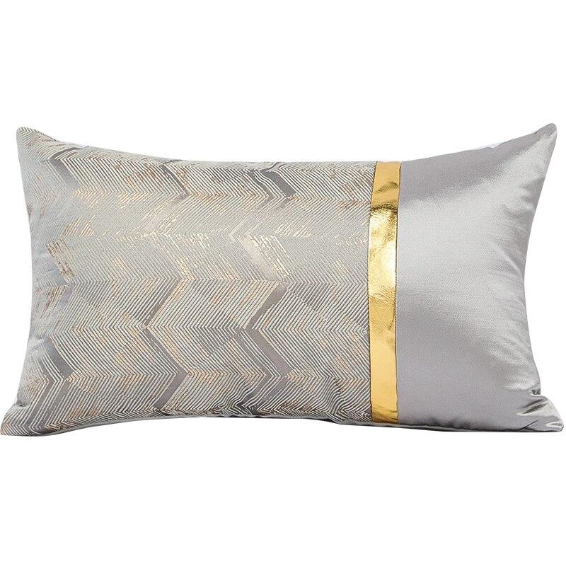 modern luxury black silver throw pillow