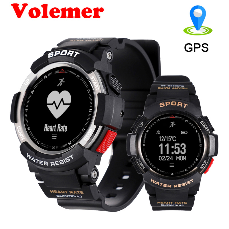 Volemer Multi Sport Modes Outdoor Bluetooth Smart Watch F6 IP68 Waterproof Heart Rate Sleep Monitor Remote Camera GPS SmartWatch ...