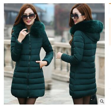 93d5a14b0 7XL Winter Coat Women Long Cotton Padded Down Jackets Ladies Hooded Red  Plus Size Loose Coats Colourful Fur Collar LZ916