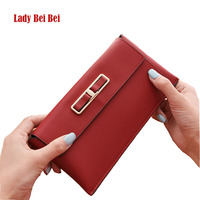 Lady Bei Bei Women Fashion Long Wallet PU Leather Personality Wallet Clutch Candy Color Money Bag