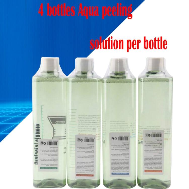 4 Bottles Aqua Peeling Solution 500ml Per Bottle Aqua Facial Serum Hydra Facial Serum For Normal Skin