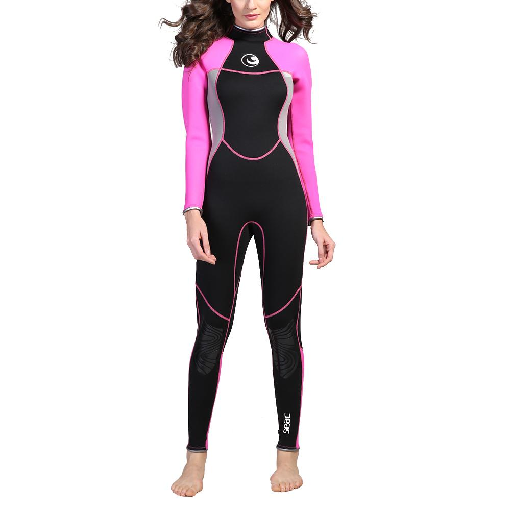Siamese Diving Suit Sunscreen Warm Surfing Swimming Floating Wetsuit Slim Diving Womens Clothing Protect The Body FemaleSiamese Diving Suit Sunscreen Warm Surfing Swimming Floating Wetsuit Slim Diving Womens Clothing Protect The Body Female
