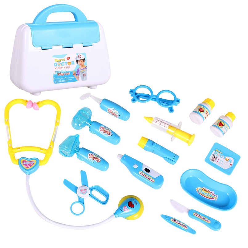 15pcs Doctor Pretend Play Set For Children Kids Play Simulation Hospital Medical Kit Educational Toy Pretend toy Girl