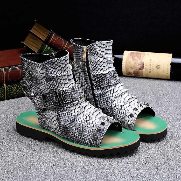 2018 yaz yeni stil deri sandaletler ve terlikler Roma plaj açık parmaklı trend Avrupa ve Amerika Birleşik devletleri tembel erkek ayakkabıları