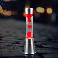 LED Metal Base Lava Lamp Light 220v Wax Volcanic Cylindrical Style Night Light Christmas Decor For