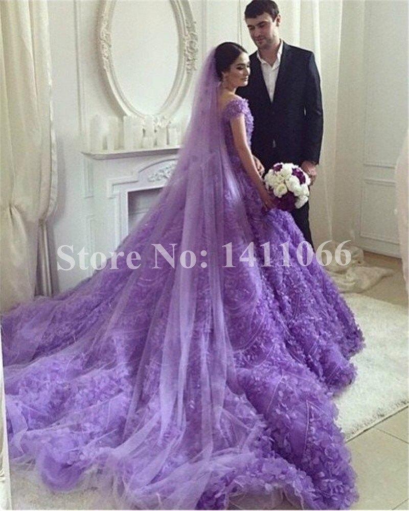 Purple Wedding Dress Gowns