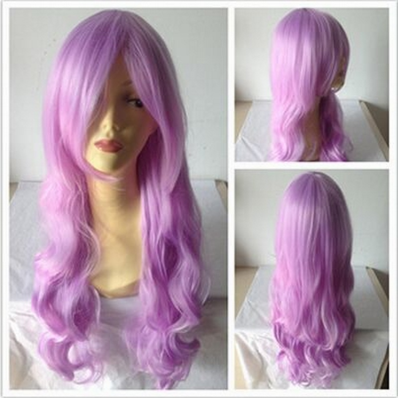 80cm Color wave long curly hair Anime girls wigs Cosplay wigs Halloween party supplies w ...