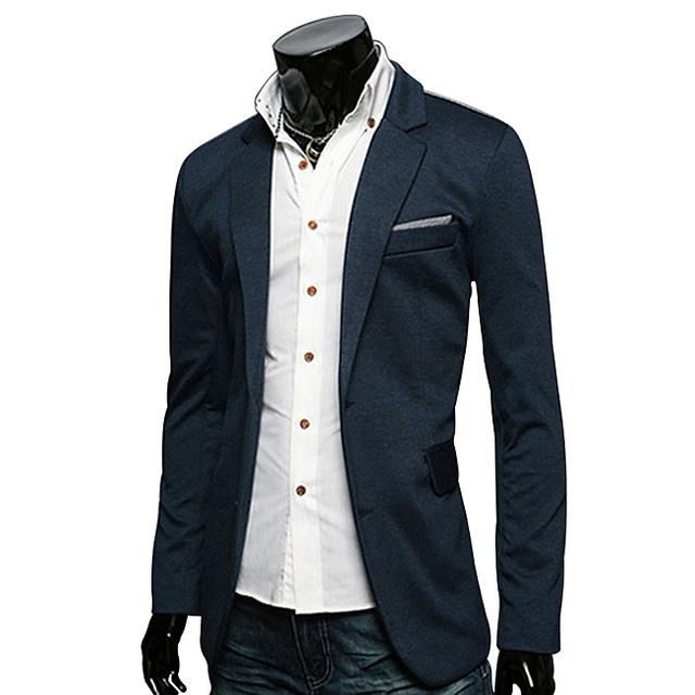 Nuevo estilo Hombre Blazers Chaqueta Diseños Chaqueta de Algodón Para Hombre Casual Blazer Masculino Chándal Traje Homme Marca Ropa