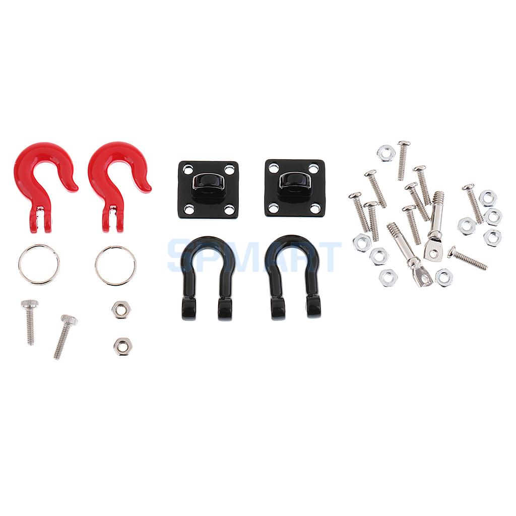 RC Crawler 1:10 Tow Hook Trailer Chain Shackle Bracket for Axial SCX10 RC4wd Traxxas Hsp Redcat Hpi