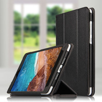 2pcs For Xiaomi MiPad 4 Case Cover Luxury Genuine Leather filp case Tablet Stand Holder for Xiaomi MI Pad 4 Pad4 cases shell