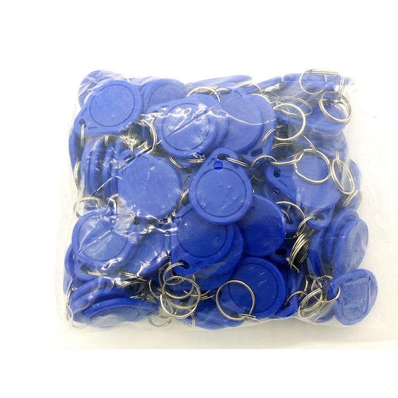 100pcs RFID Tag 13.56MHz NFC Tags Keyfob Re-writable Proximity RFID Card Key Fobs For Access Control