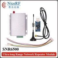 SNR6500 5W Wireless Transceiver Kit 470MHz RS485 SNR6500 Module 2pcs Antenna 2pcs Power Supply 2pcs USB