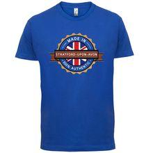 Made In STRATFORD-UPON-AVON Mens T-Shirt - Town / City - 13 Colours Name Print T Shirt Mens Short Sleeve Hot Tops Tshirt Homme avon