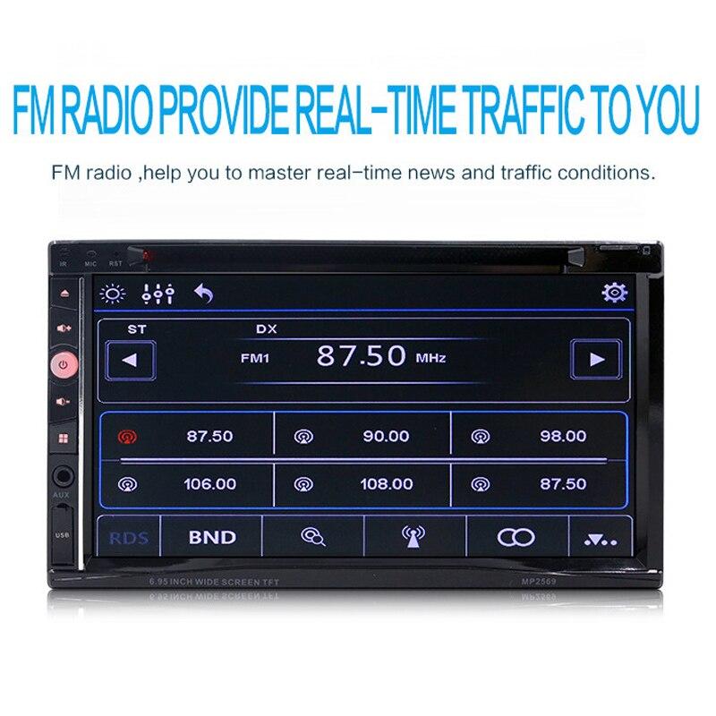 2018 Bluetooth mains libres lecteur DVD affichage Auto autoradio 7 pouces grand écran haute définition vidéo résistif écran MP5 lecteur