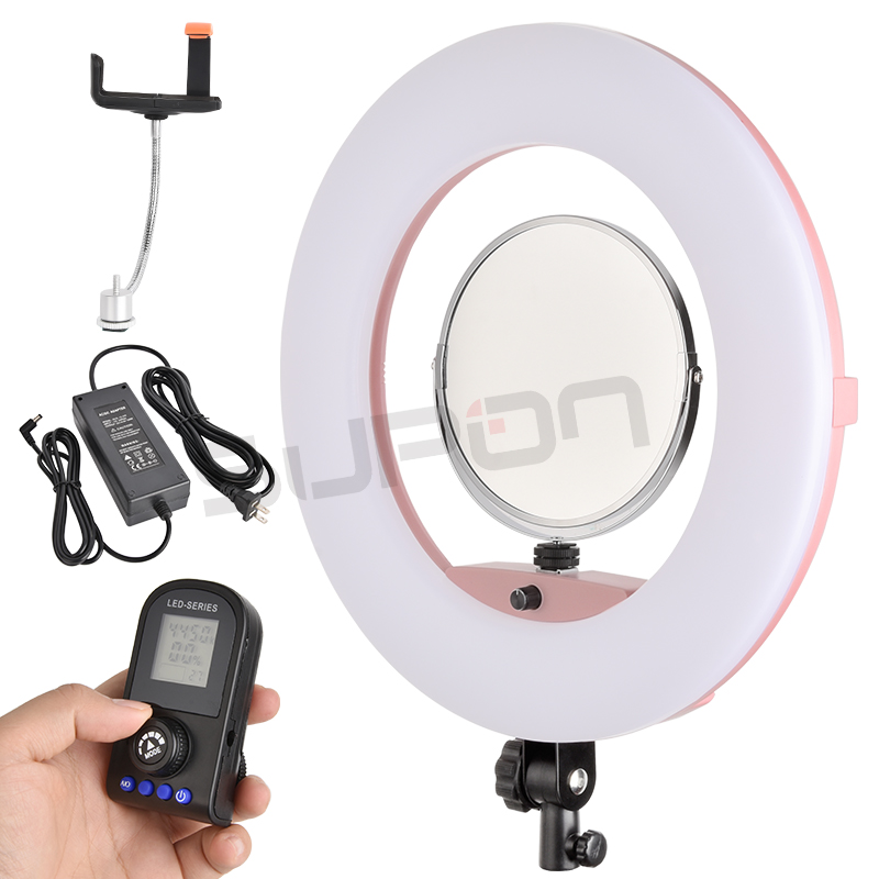 SUPON Selfie Ring Light White Black Pink Color FE 480II 3200K 5500K Dimmable Camera Photo Studio