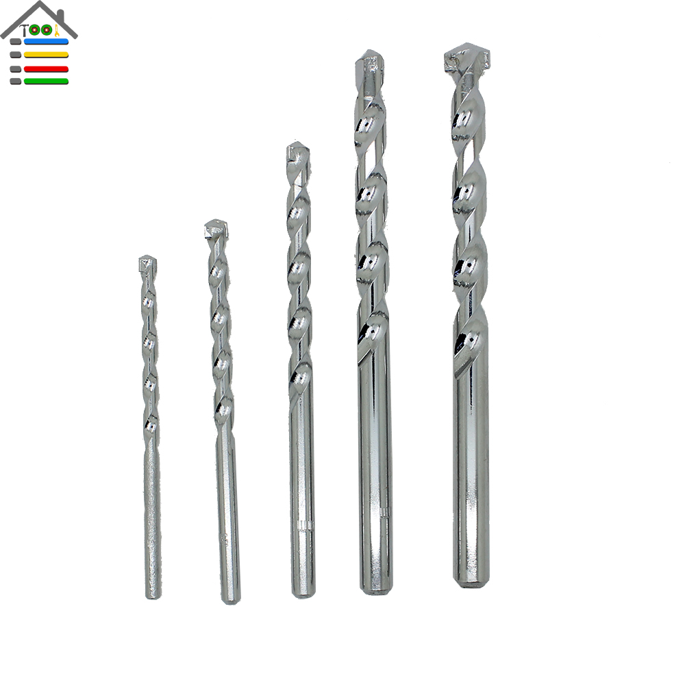 5pc Masonry Masonary Wall Drill Bits Various for Ceramic Tile Marble Concrete Cement Stone Wall Cutter 4mm 5mm 6mm 8mm 10mm 4 pieces tungsten carbide glass drill bits for ceramic tile marble mirror 6mm 8mm 10mm 12mm