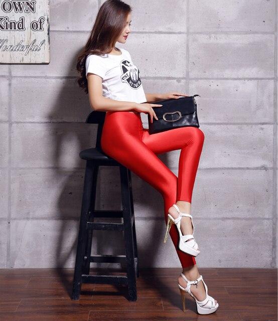 29eee249e6d57 women's lycra spandex tights women american apparel shiny spandex neon  nylon leggins for woman polyester spandex