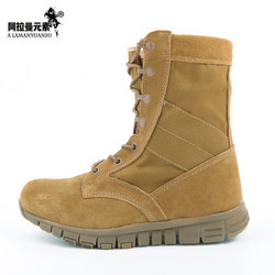 military US ARMY Ultra Light Desert Boots Summer Breathable Tactical SWAT  Proof Combat Boots leather 800D nylon Free Shipping