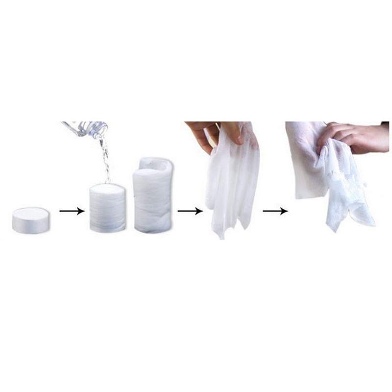 100pcs set Disposable Compressed Towel Portable Hand Towel Papper Magic Tissue Outdoor Travel Tool in Sport Towels from Home Garden