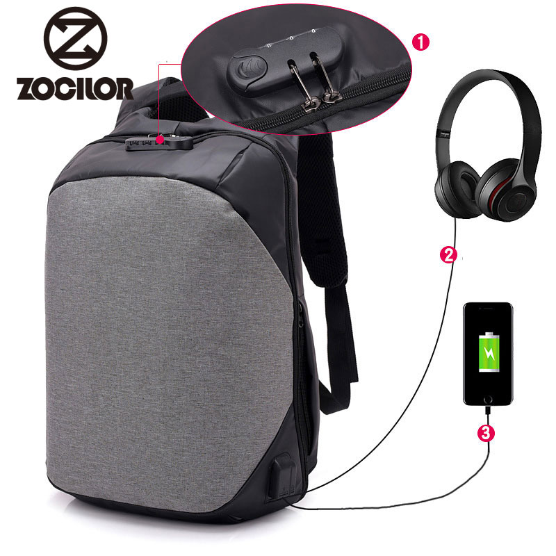 2018 Generation USB Charge Anti Theft Backpack Men 15inch Laptop Backpacks Fashion Travel School Bags Bagpack sac a dos mochila new 3d printing backpack men leather school backpack big rivet wolf bagpack for teens mochila laptop backpacks male sac a dos