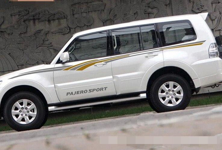 Modifikasi kendaraan mobil tubuh tubuh warna dekoratif sticker untuk mitsubishi pajero sport garland pinggang mobil stiker gratis pengiriman di mobil stiker