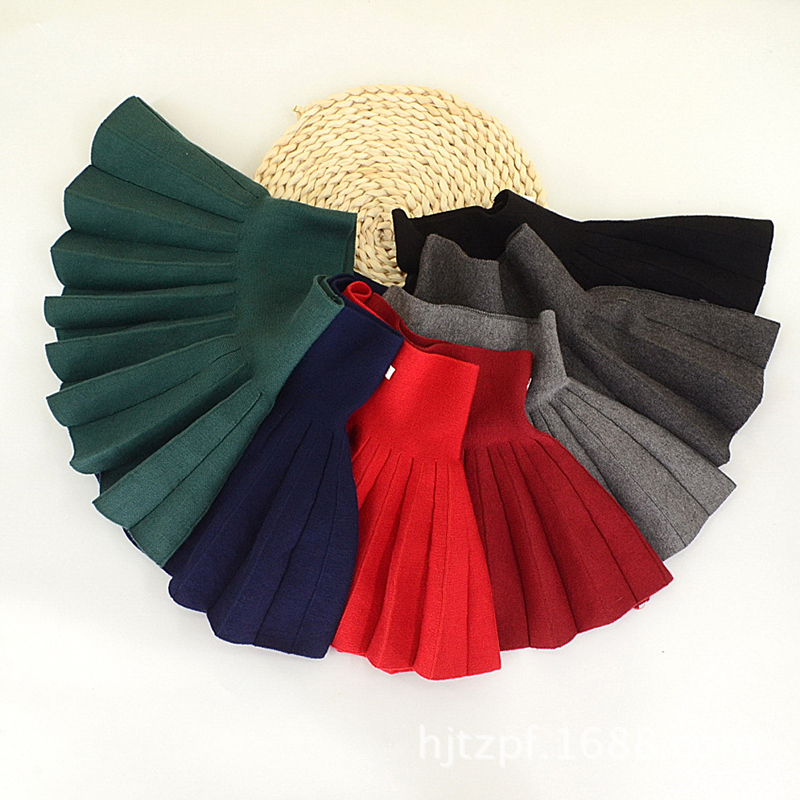 dc0285d37 Vintage pleated skirt for girls school uniform cotton knitting tutu skirt  toddler baby Bottoming skirt children clothes winter. Size:2t,3t,4,5,6;  Color:red ...