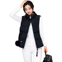 Winter Cotton Vests Ladies Short Puffer Ball Warm Vest Sleeveless Padded Quilted Jackets Coat Vesten Colete Feminino Gilet Yelek