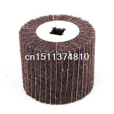 120mmx18mmx100mm Cylindrical Polishing Abrasive Flap Wheel goxawee 1pc buff polishing compound metal jewelry polishing compound abrasive paste abrasive tools blue white gray yellow green
