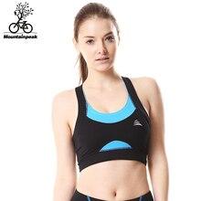 Mountainpeak Women Padded Tank Top Athletic Vest Gym Fitness Sports Bra Stretch Polyester Seamless popular Yoga Bras
